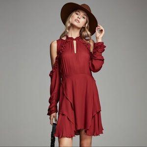 IRO Hanie Cold-Shoulder Voile Dress size 38